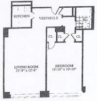 floorplan for 30 Park Avenue #9L