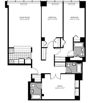 floorplan for 50 Murray Street #310