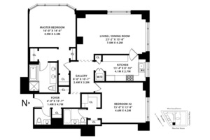 floorplan for 15 Central Park West #6N
