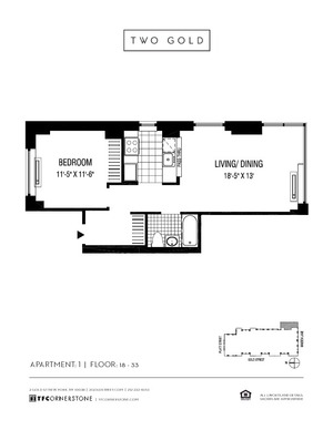 floorplan for 2 Gold Street #2701