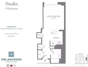 floorplan for 227 West 77th Street #12B