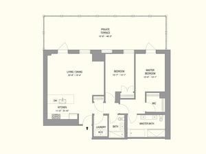 floorplan for 55 West 17th Street #204