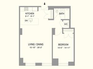 floorplan for 55 West 17th Street #403