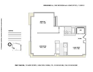 floorplan for 75 West Street #2A
