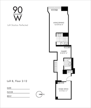 floorplan for 90 Washington Street #7B