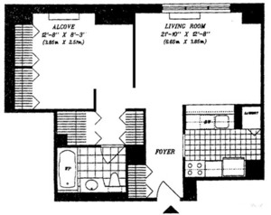 floorplan for 422 East 72nd Street #4B