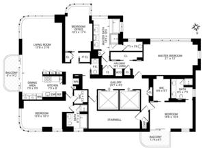 floorplan for 52 East End Avenue #35