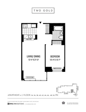 floorplan for 2 Gold Street #4604
