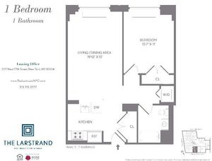 floorplan for 227 West 77th Street #15D