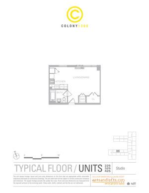 floorplan for 1209 Dekalb Avenue #425
