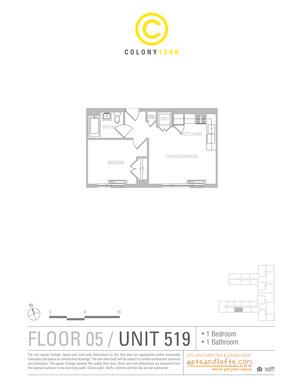 floorplan for 1209 Dekalb Avenue #519