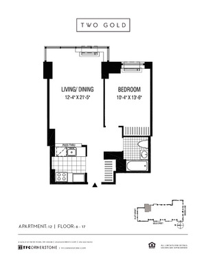 floorplan for 2 Gold Street #912