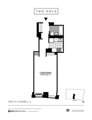 floorplan for 2 Gold Street #4H