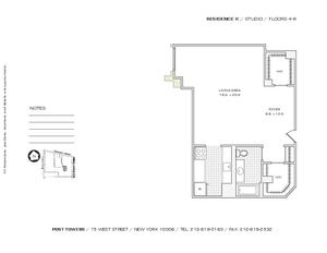 floorplan for 75 West Street #4K