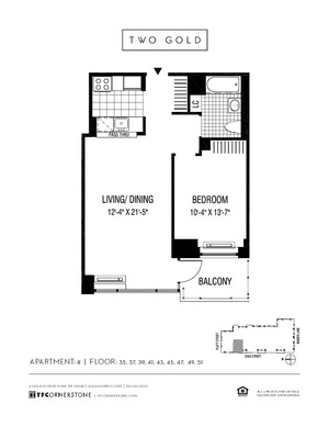 floorplan for 2 Gold Street #4108