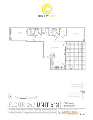 floorplan for 1209 Dekalb Avenue #513