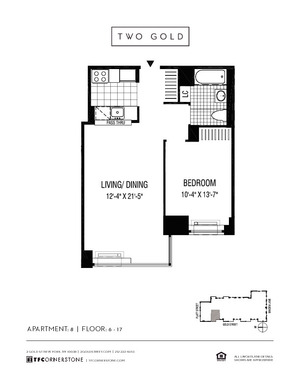 floorplan for 2 Gold Street #1508