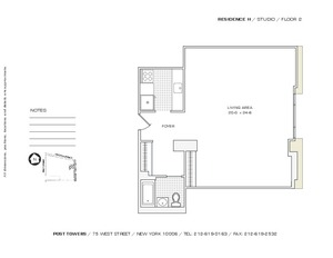 floorplan for 75 West Street #2H
