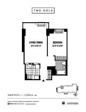 floorplan for 2 Gold Street #2711