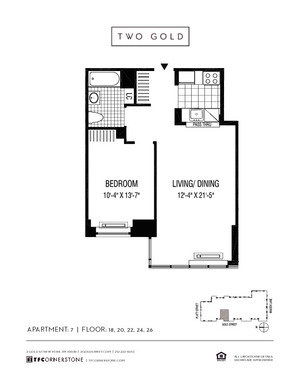 floorplan for 2 Gold Street #1807