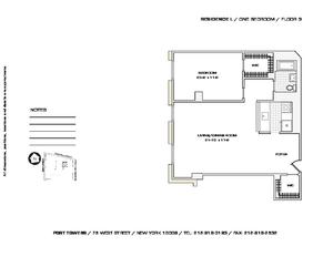 floorplan for 75 West Street #3L