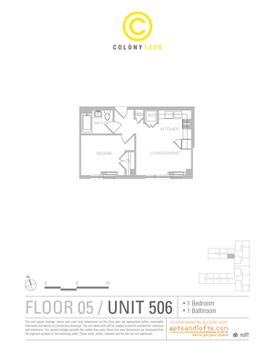 floorplan for 1209 De Kalb Avenue #506