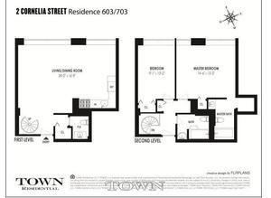 floorplan for 2 Cornelia Street #603