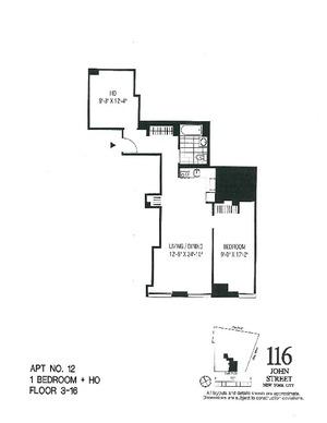 floorplan for 116 John Street #1912