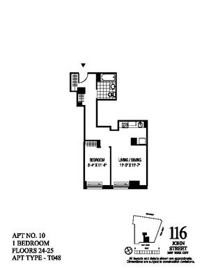 floorplan for 116 John Street #2510