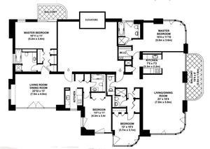 floorplan for 52 East End Avenue #37AB