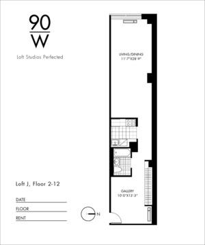 floorplan for 90 Washington Street #11J