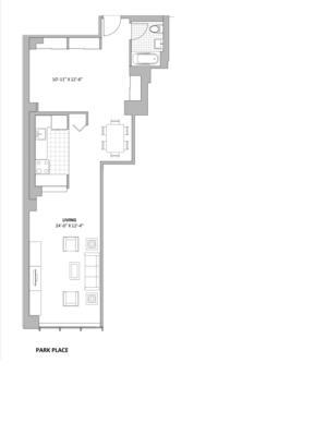 floorplan for 50 Murray Street #523