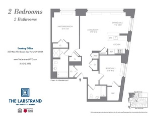 floorplan for 227 West 77th Street #6K