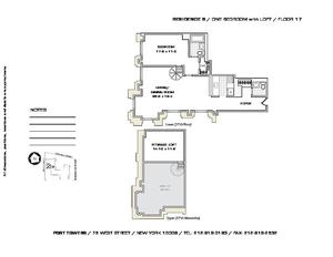 floorplan for 75 West Street #17B