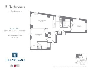 floorplan for 227 West 77th Street , #PHD