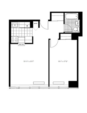 floorplan for 50 Murray Street #1419