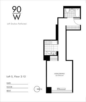 floorplan for 90 Washington Street #5S