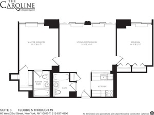 floorplan for 60 West 23rd Street #803