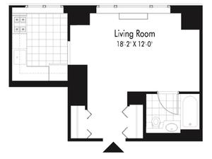 floorplan for 601 West 57th Street #33D