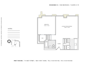 floorplan for 75 West Street #4H