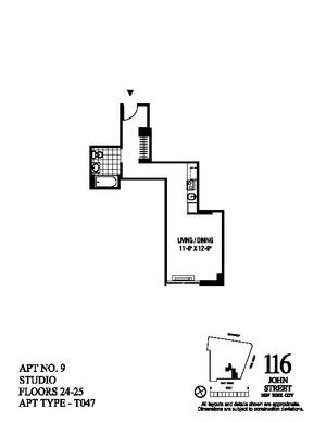 floorplan for 116 John Street #2509
