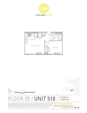 floorplan for 1209 Dekalb Avenue #518