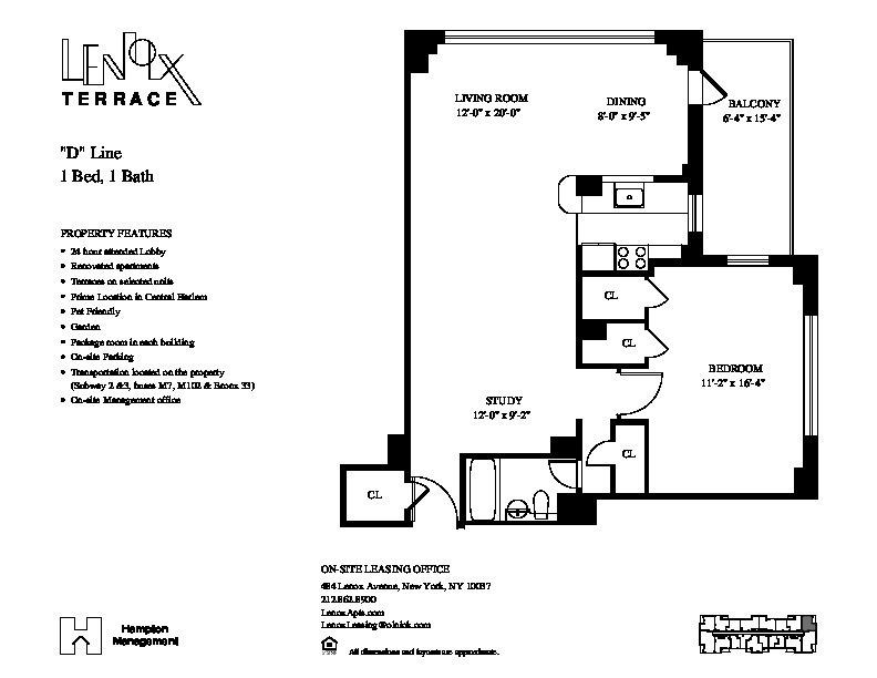 Streeteasy lenox terrace at 10 west 135th street in for The lenox floor plan