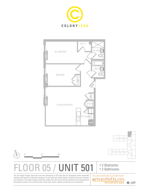 floorplan for 1209 Dekalb Avenue #501