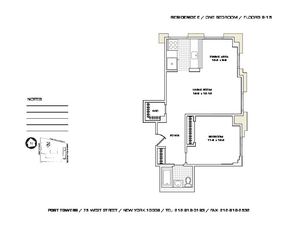 floorplan for 75 West Street #9E