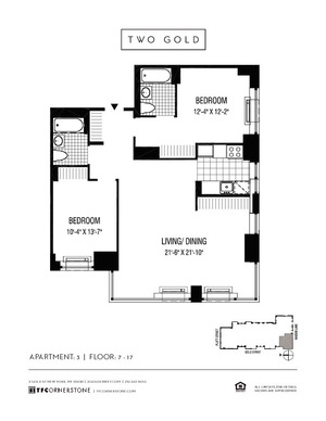 floorplan for 2 Gold Street #903