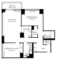 floorplan for 422 East 72nd Street #18E