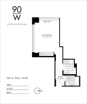 floorplan for 90 Washington Street #25A