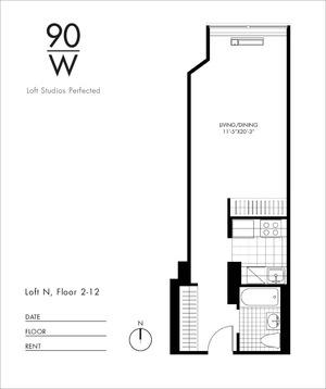 floorplan for 90 Washington Street #17N