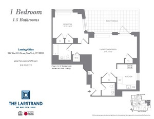 floorplan for 227 West 77th Street #17A